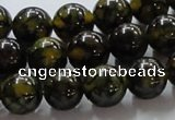 CAG236 15.5 inches 12mm round dragon veins agate gemstone beads