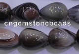 CAG2763 15.5 inches 15*20mm teardrop botswana agate beads wholesale