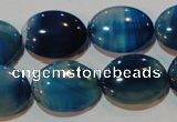 CAG3481 15.5 inches 15*20mm oval blue line agate beads