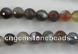 CAG3692 15.5 inches 8mm faceted round botswana agate beads wholesale