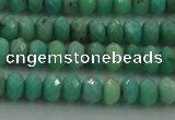 CAG3911 15.5 inches 2.5*4mm faceted rondelle green grass agate beads