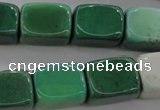 CAG3925 15.5 inches 13*18mm cuboid green grass agate beads