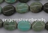 CAG3942 15.5 inches 8*10mm oval green grass agate beads