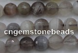 CAG3955 15.5 inches 6mm faceted round grey botswana agate beads