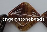 CAG4050 15.5 inches 40*40mm diamond dragon veins agate beads