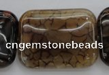 CAG4058 15.5 inches 30*38mm rectangle dragon veins agate beads