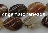 CAG4107 15.5 inches 15*20mm twisted oval dragon veins agate beads