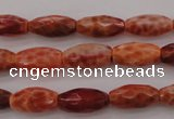CAG4194 15.5 inches 8*14mm faceted rice natural fire agate beads