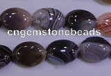 CAG4453 15.5 inches 12*16mm oval botswana agate beads wholesale
