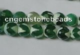 CAG4700 15.5 inches 8mm faceted round tibetan agate beads wholesale