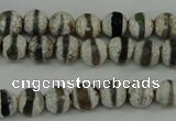 CAG4721 15 inches 6mm faceted round tibetan agate beads wholesale