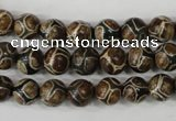 CAG4735 15 inches 8mm round tibetan agate beads wholesale