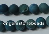 CAG4799 15.5 inches 10mm round matte druzy agate beads wholesale