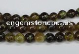CAG4831 15 inches 6mm round dragon veins agate beads wholesale