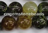 CAG4836 15 inches 16mm round dragon veins agate beads wholesale