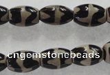 CAG5086 15.5 inches 8*12mm drum tibetan agate beads wholesale
