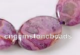 CAG530 15 inches 15*20mm oval purple crazy lace agate beads wholesale