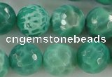 CAG5313 15.5 inches 12mm faceted round peafowl agate gemstone beads
