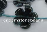 CAG5399 15.5 inches 26mm – 28mm carved flower dragon veins agate beads