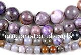 CAG540 Multi sizes round purple crazy lace agate beads wholesale
