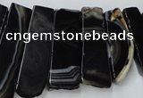 CAG5464 15.5 inches 16*26mm - 20*66mm freeform agate gemstone beads