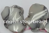 CAG5477 15.5 inches 20*25mm - 50*62mm freeform agate gemstone beads
