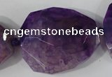 CAG5487 15.5 inches 30*35mm – 35*40mm faceted freeform agate beads
