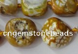CAG5523 15.5 inches 17*20mm - 20*22mm nuggets agate gemstone beads