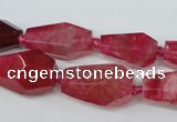CAG5574 15 inches 13*18mm - 15*28mm faceted nuggets agate beads