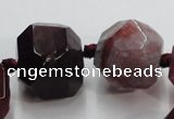 CAG5594 15 inches 10*12mm - 25*27mm faceted nuggets agate beads