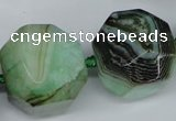 CAG5602 15 inches 25*30mm faceted nuggets agate gemstone beads