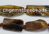 CAG5637 15 inches 13*20mm - 15*35mm faceted nuggets agate beads