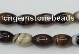 CAG5911 15 inches 8*12mm rice Madagascar agate gemstone beads