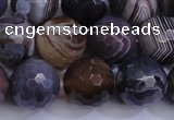 CAG5963 15.5 inches 12mm faceted round botswana agate beads wholesale