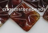 CAG6070 15.5 inches 20mm wavy diamond dragon veins agate beads