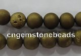 CAG6272 15 inches 8mm round plated druzy agate beads wholesale