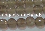 CAG6537 15.5 inches 8mm faceted round Brazilian grey agate beads