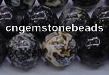 CAG6656 15.5 inches 16mm round blue ocean agate gemstone beads