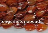 CAG669 15.5 inches 10*14mm faceted flat teardrop natural fire agate beads