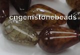 CAG698 15.5 inches 20*30mm teardrop dragon veins agate beads