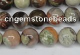 CAG7003 15.5 inches 10mm round ocean agate gemstone beads