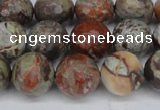 CAG7014 15.5 inches 12mm faceted round ocean agate gemstone beads