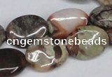 CAG7038 15.5 inches 13*18mm oval ocean agate gemstone beads
