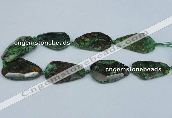 CAG7074 15.5 inches 25*35mm - 35*50mm faceted freeform ocean agate beads