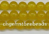 CAG7103 15.5 inches 10mm round yellow agate gemstone beads