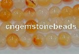 CAG7131 15.5 inches 6mm round red agate gemstone beads