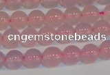 CAG7150 15.5 inches 6mm round pink agate gemstone beads