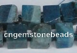 CAG7384 15.5 inches 11*12mm - 13*14mm cube dragon veins agate beads