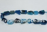 CAG7395 15.5 inches 18*25mm - 20*28mm freeform dragon veins agate beads