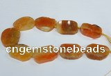 CAG7407 15.5 inches 30*40mm - 35*45mm freeform dragon veins agate beads